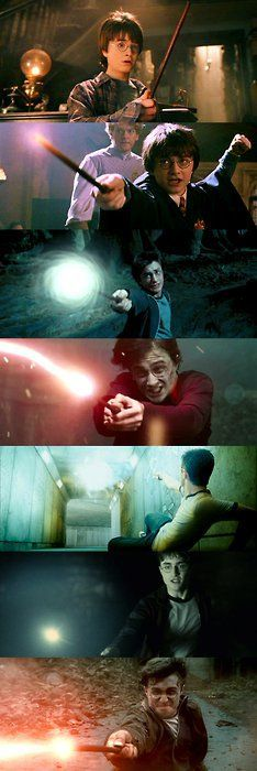 Harry's wand, from Sorcerer's Stone to Deathly Hallows