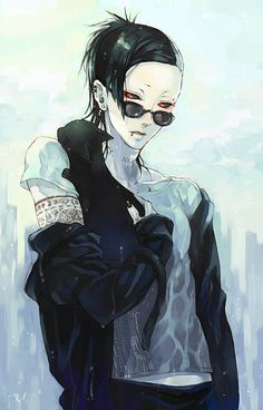 Uta | Tokyo Ghoul - Huh, not sure if I've pinned this before. But what ever it's Uta with a black cat, soooo *pin*