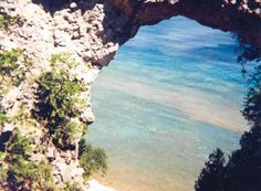 Arch Rock on Mackinac Island, Michigan.
