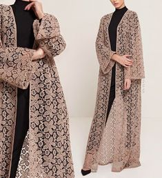 modest style INAYAH - Versatility and Style - An outerwear essential to wear over your midi, abaya, maxi skirt or modest trousers. Pair with our Soft Crepe Hijabs for a high-fashion stan Islamic Fashion, Muslim Fashion, Modest Fashion, Fashion Dresses, Maxi Dresses, Abaya Fashion, Kimono Fashion, Vetement Hippie Chic, Moslem