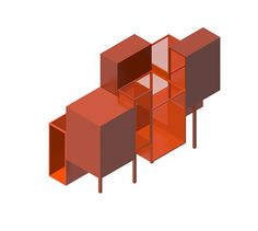 Entry for the Folly design competition issued by Stichting Landgoed Fraeylemaborg, Slochteren (NL). Exibition Design, Section Drawing, Sea Containers, Expanded Metal, Art Area, Exhibition Space, Design Competitions, Kiosk, Light And Shadow