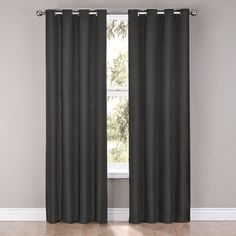 Found it at Wayfair - Eclipse Curtains Cassidy Window Curtain Single Panel Grommet Curtains, Drapes Curtains, Black Curtains, Home Theater Curtains, Velvet Room, Log Home Decorating, Decorating Ideas, Country Farmhouse Decor, Sewing Patterns