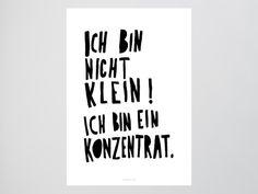 Originaldruck - Kunstdruck Poster / Konzentrat - ein Designerstück von typealive bei DaWanda