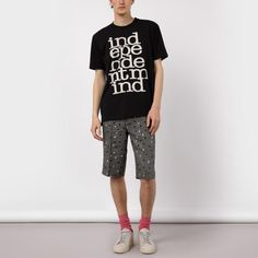 Paul Smith Men's Black 'Independent Mind' Print T-Shirt