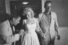 August 10th, 1957  --  Marilyn Monroe is discharged from Doctor's Hospital in New York City following her miscarriage (on August 1st). Arthur Miller picked her up that day.