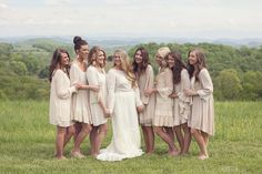 These bridesmaid dresses are stunning! Click to see more from this Knoxville area wedding with Southern details at Spout Spring Estates! Images by @jamieweissphoto | The Pink Bride www.thepinkbride.com