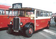 T class bus - single decker, going to Peckham.