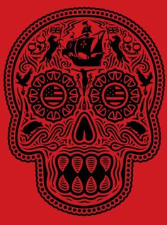Ernesto Yerena Coloniam Deductam  Limited Edition Screen Print Of 150 (Red)