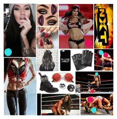"""""""💀 Sylvia Hayes 💀 - Vs Nikki Bella"""" by forgotten-memories on Polyvore featuring Vision, WWE, Karl Lagerfeld, ZeroUV and Effy Jewelry"""