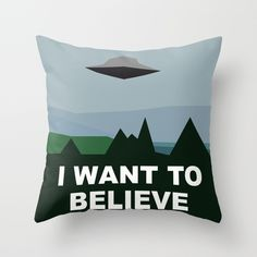 I Want To Believe minimal Throw Pillow