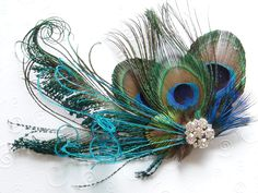 Peacock Bridal Hair Accessories | BRIDAL HAIR PIECE bridesmaid accessories Peacock Wedding Hair Clip ...