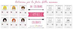 Biglietti Festa della Mamma: 12 diversi modelli di letterine per la Festa della Mamma da stampare e da colorare. Adatte per bambini scuola primaria.