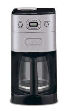 Cuisinart DGB-625BC Grind-and-Brew 12-Cup Automatic Coffeemaker  Brushed Metal: http://www.amazon.com/Cuisinart-DGB-625BC-Automatic-Coffeemaker-Brushed/dp/B001G8Y2X6/?tag=cheap136203-20