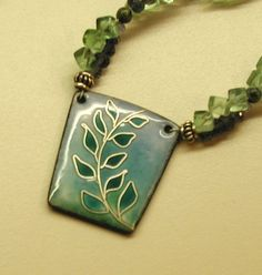 Fern pendant - Art Jewelry Magazine - Jewelry Projects and Videos on Metalsmithing, Wirework, Metal Clay