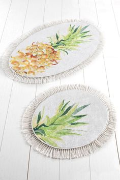 Set 2 Covorase de Baie - Pine – Bonlavie Tropical, Plates, Tableware, Licence Plates, Plate, Dinnerware, Dishes, Dish, Place Settings