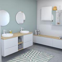 Salle de bains : les couleurs tendance 2017   Couleur tendance ...