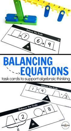 These number balances are the perfect way to integrate addition, subtraction, and equality into one task, challenging students to apply their number learning!
