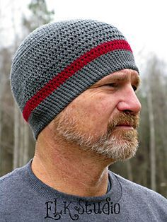 Does your guy need a thin hat to wear while he's working out, riding a bike, motorcycle, etc.? The Work and Play Beanie uses a thin, sport weight yarn to give him the extra warmth without being too bulky or hot!