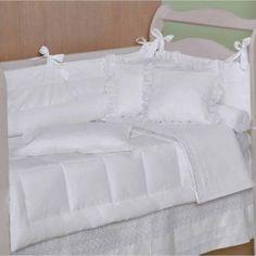 Kit Berço Baby Fantasy 8 Peças Branco 233 Fios