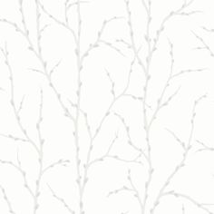 Allure White and Silver Twigs Branches Wallpaper Silver Glitter 309713: Amazon.co.uk: Kitchen & Home