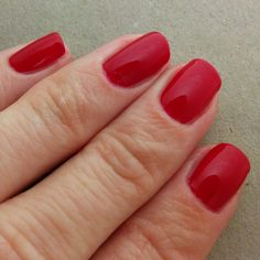 Gina Tricot The Red, two coats. This is such a perfect red, and so easy to work with! You could get away with just one coat if you were in a hurry, but the colour deepens with two coats.