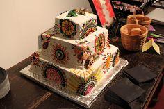 OMG cake! Ginny & Adam's arty New Year's Eve wedding! via offbeat bride