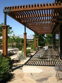 patio moderne en bois