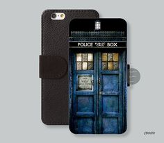 Police box iPhone 6 case Leather Wallet  by Customleathercase