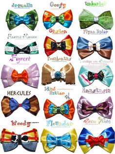 """Disney Hair Bows"" by lesmisfreak 