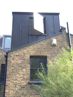 Zinc Aluminium Cladded Extension in Charcoal Loft Dormer, Dormer Loft Conversion, Loft Conversions, Bungalow Extensions, House Extensions, Victorian Terrace, Victorian Homes, Small Bedroom Inspiration, Bedroom Ideas