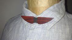 Noeud papillon moustache réversible en Bois de Violette du Mozambique : Echarpe, foulard, cravate par exotikwood