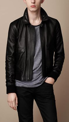 Burberry - BURNISHED LAMBSKIN BLOUSON