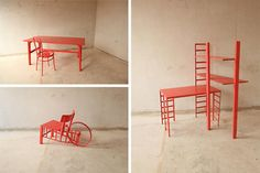Nomad Designer Transforms Found Furniture Each Time He Moves