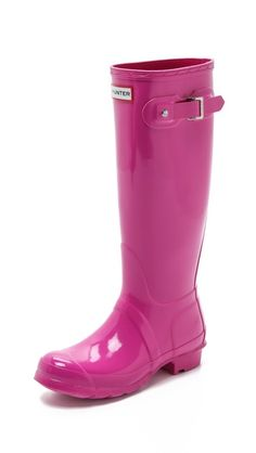Hunter Boots Original Tall Gloss Boots - I have no use for these in SoCal, but still pretty!