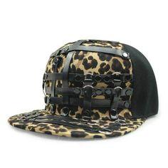 d1ee00d05fc Flat Brim leopard Hip Hop Cap