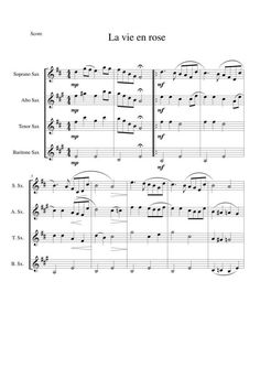 Quatuor de saxophones La vie en rose