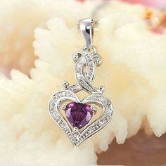 AAA Zircon 925 Sterling Silver Heart Style Necklace