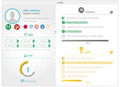 profile with #gamification on Behance