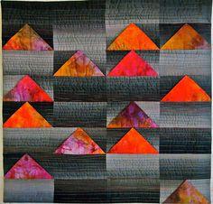"Night Flight 18.5"" x 19"" 2012   Sara Kelly Art Quilts"