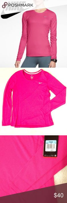 Lowest priceNike dri-fit hot pink long sleeve top One of Nike's best sellers.  Dri-fit long sleeve top in a bright pink.  New with tags and never worn.    ✅Offers through the offer button  • Nike women long sleeve shirt top hot bright pink dri-fit NWT • Nike Tops Tees - Long Sleeve