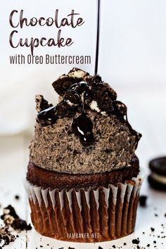 The best chocolate cupcake perfect for Easter or Mother's Day dessert! Chocolate Cupcakes with Oreo Buttercream is an awesome cupcake recipe that is moist and full of Oreo goodness. Add this sweet treat to your baking list! Best Chocolate Cupcakes, Dessert Chocolate, Chocolate Recipes, Mocha Cupcakes, Strawberry Cupcakes, Oreo Dessert, Velvet Cupcakes, Vanilla Cupcakes, Chocolate Cream