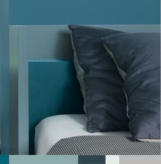 Create a restful bedroom with teal #tones. Azure Fusion 2 | Azure Fusion 1 |  Sea Urchin 3. Click on the image to discover more colours.