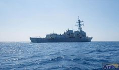 American navy ship sails close to S. China Sea island occupied by Beijing