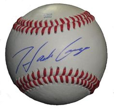 Hank Conger Autographed ROLB Baseball, Los Angeles Angels of Anaheim, Proof Photo by Southwestconnection-Memorabilia. $39.99. This is a Hank Conger autographed Rawlings official league baseball. Hank signed the ball in blue ballpoint pen. Check out the photo of Hank signing for us. Proof photo is included for free with purchase. Please click on images to enlarge.
