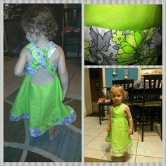 Custom design baby girls dress 2t-3t nTICing dEsigns $35