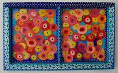 """New to SissysFolkArt on Etsy: Abstract Poppies 29"""" x 17"""" (495.00 USD)"""