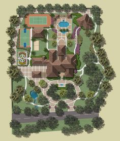 18477 California Spanish — Featured Projects, Residential Projects by KVH Design Group Landscape Plans, Landscape Architecture, Landscape Design, Architecture Design, Garden Design, House Design, Architecture Diagrams, Architecture Portfolio, House Plans Mansion