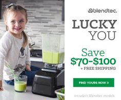 Don't Forget! This is the last week to save BIG at Blendtec! Get $70 OFF  the Refurbished Classic 575 or $100 OFF the Refurbished Designer 625  through 3/31 + FREE Shipping! #blendtecsale #blendtec #blendersale
