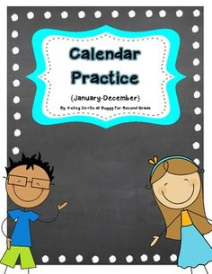 A easy and great way to practice learning the months of the year!