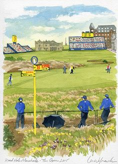 Road Hole Marshals Live Sketch at The Open Championship at St. Andrews